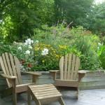 chairs relaxing backyard