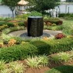 outdoor water fountain beautiful plants backyard