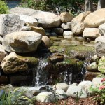 stone waterfall feature landscape design
